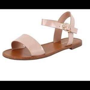 NWOB Sz 7 rose gold Breckelle's Kate sandal